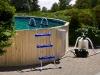 Holzumrandung Beispielset (Leiter, Skimmer, Sandfilter)